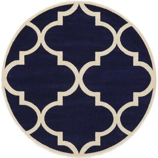 Moore Navy Blue Area Rug by Charlton Home
