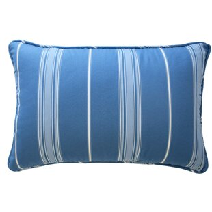 Ride The Waves Striped Polyester Lumbar Pillow