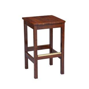 Amoroso Beechwood Square Backless Wood Seat Bar Stool by Red Barrel Studio