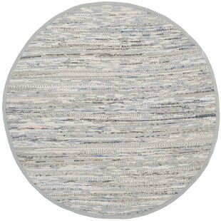 Havelock Striped Contemporary Cotton Gray Area Rug by Beachcrest Home