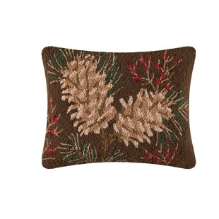 Rustic Retreat Hooked Pillow