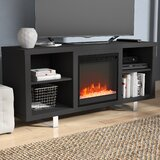 Depasquale TV Stand for TVs up to 65 with Electric Fireplace Included by Latitude Run®