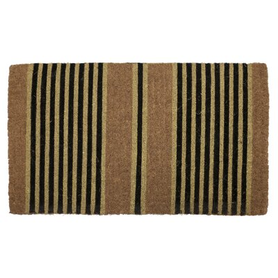 Brayden Studio Surbit Ticking Stripes Door mat Mat Size: Rectangle 1'6 x 2'6
