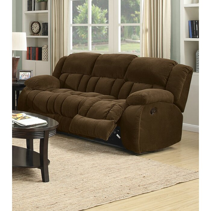 Corentin Textured Chenille Padded Reclining Sofa