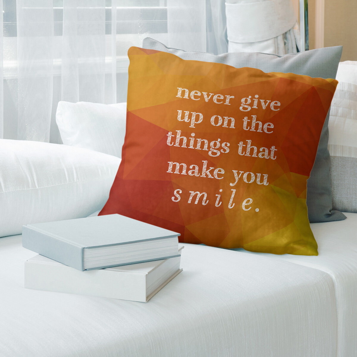 East Urban Home Faux Gemstone Joy And Perseverance Quote Pillow Wayfair