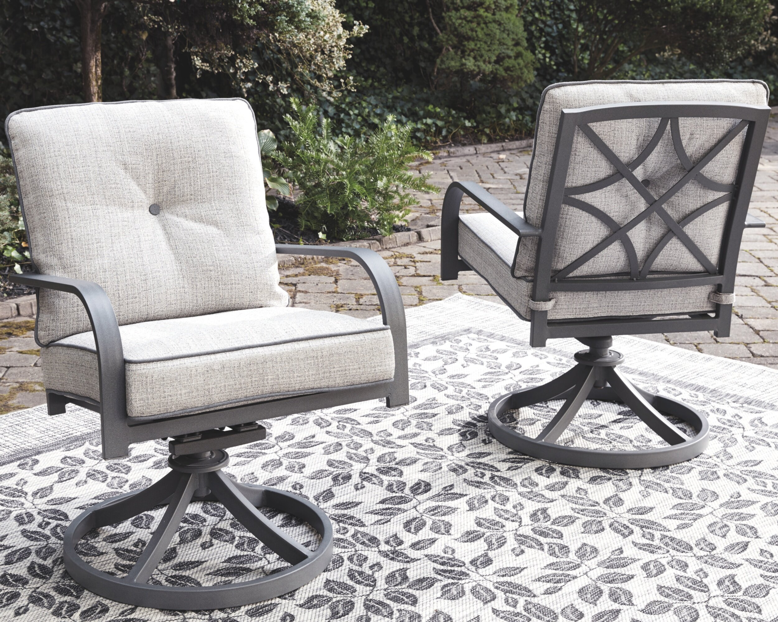 Wondrous Anguiano Swivel Patio Chair With Cushions Cjindustries Chair Design For Home Cjindustriesco