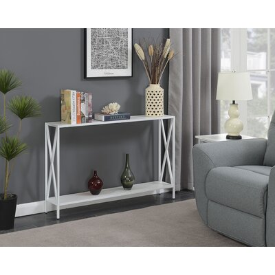 Abbottsmoor Metal Frame Console Table Color: White by Andover Mills