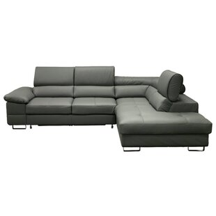 Gravely Leather Sleeper Sectional