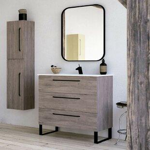 Shakia 1016mm Free-Standing Single Vanity Unit By Ebern Designs