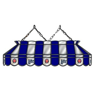 ALL AMERICAN LAMPS Miller Lite 3-Light Pool Table Light
