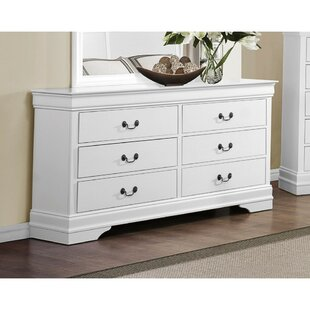 Alcott Hill Naomi Wooden 6 Drawer Double Dre..