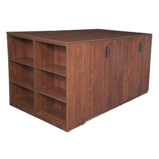 Linh Stand Up Storage Cabinet Quad with Bookcase End