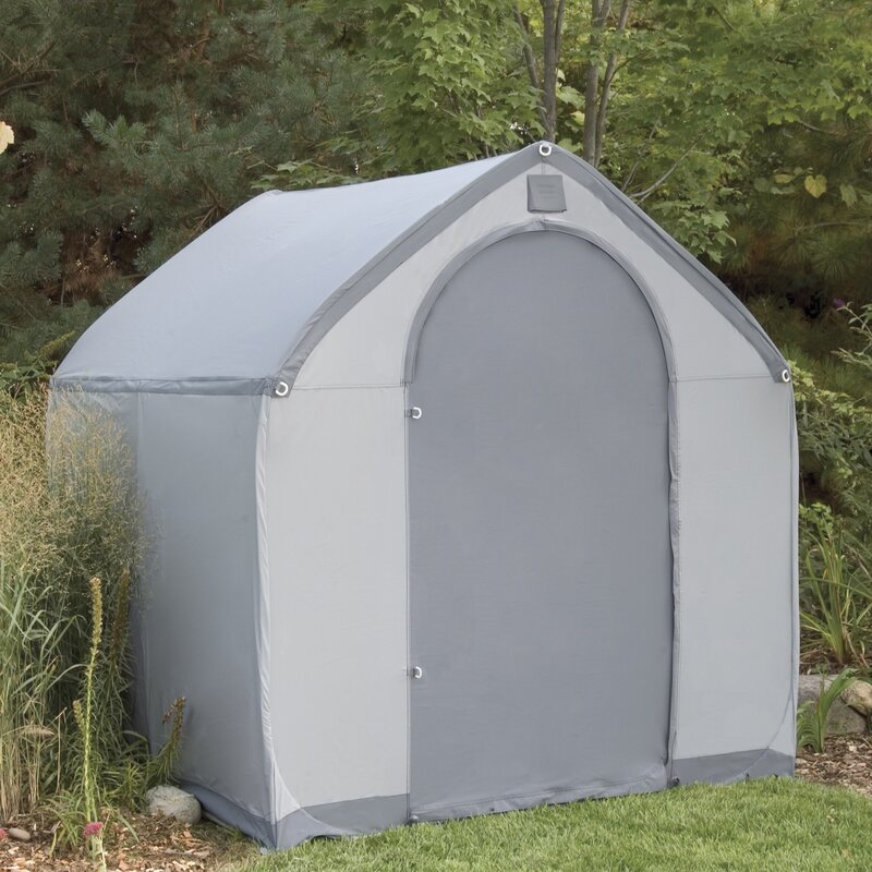 D Plastic Portable Tool Shed & Flowerhouse StorageHouse 6 ft. W x 6 ft. D Plastic Portable Tool ...