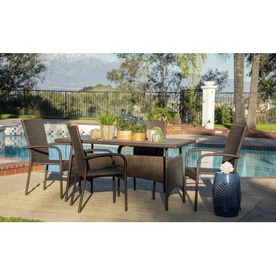 Menahan Outdoor 5 Piece Dining Set by Canora Grey No Copoun
