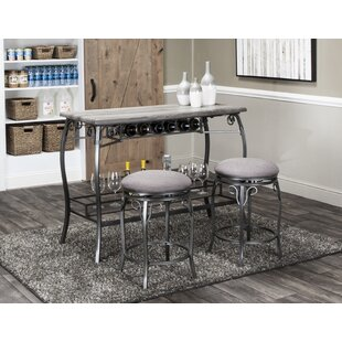 Wilber 3 Piece Pub Table Set Fleur De Lis Living
