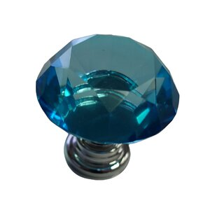 Glass Kitchen Cupboard Cabinet Door Drawer Crystal Knob (Set of 2)