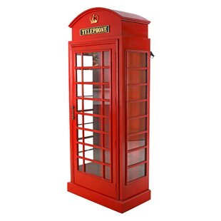 Design Toscano British Telephone Booth Display Accent Cabinet