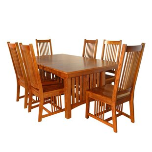 Neff Mission 7 Piece Extendable Solid Wood Dining Set Canora Grey