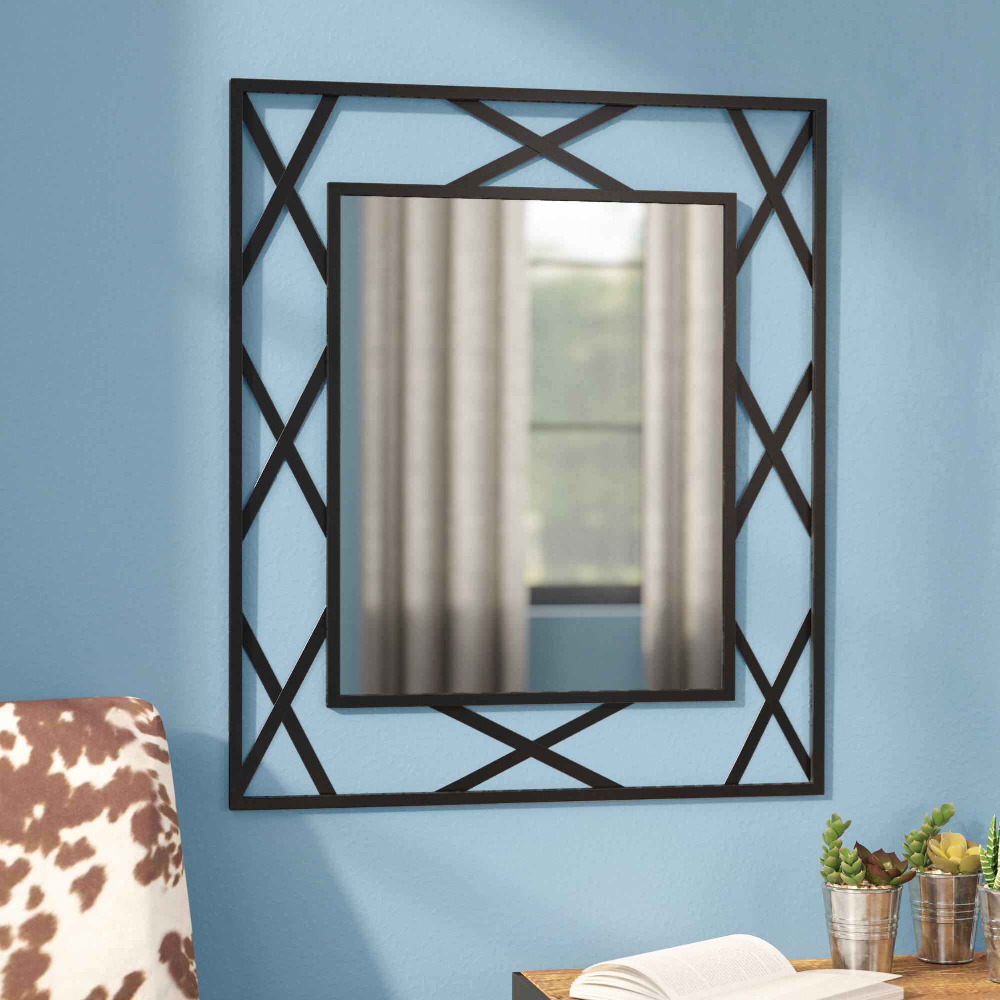 Trent Austin Design Breana Rectangle Black Frame Metal Mirror ...