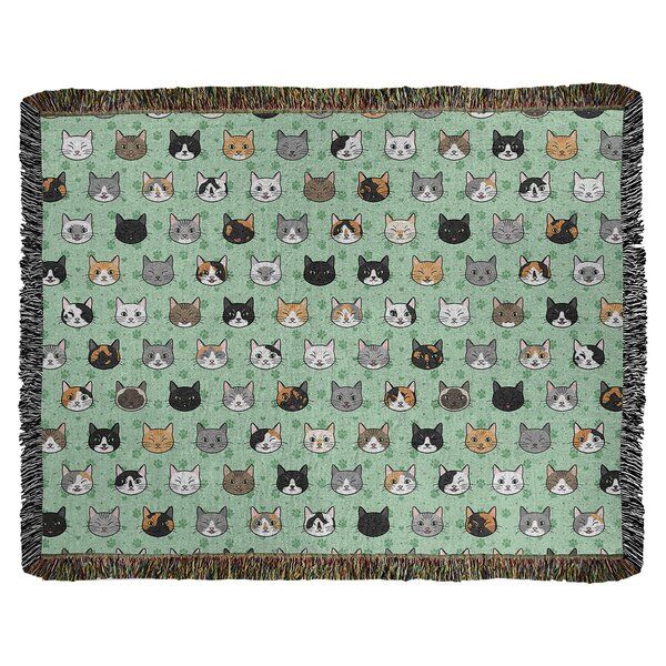Woven Cotton Cat Blanket Wayfair
