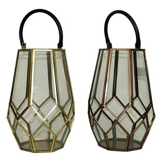 Wrought Studio Lantern with Handle (Set of 2)