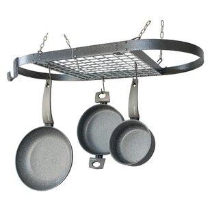 Hammered Oval Hanging Pot Rack