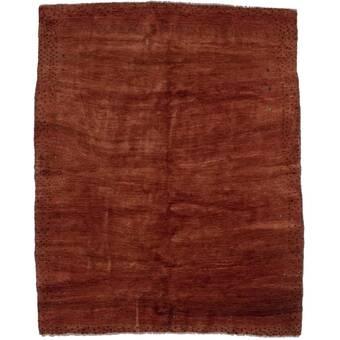 Isabelline Rollingdam Hand Knotted Wool Brown Beige Rug Wayfair