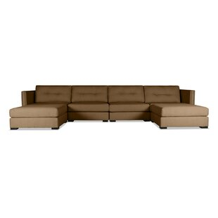 Timpson Buttoned U-Shape Double Chase Modular Sectional by Latitude Run Cool