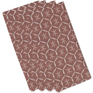 Lassiter Tufted Geometric 19 Napkin (Set of 4) by Bungalow Rose