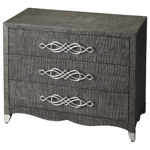 Sabra Raffia 3 Drawer Chest by House of Hampton