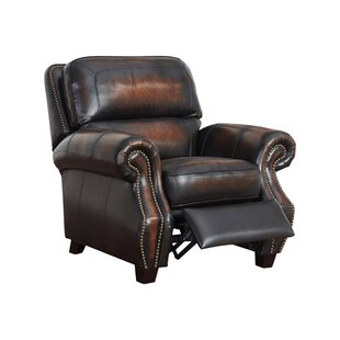 Cletus Leather Manual Recliner by Canora Grey