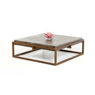 Brayden Studio Hermitage Square Shape Steel Framed Coffee Table