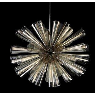 15-Light Sputnik Chandelier by Viz Glass
