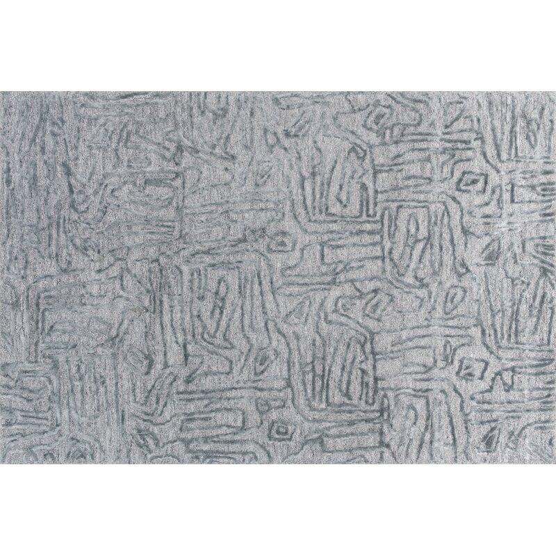 Orren Ellis Rusch Hand Tufted Light Blue Area Rug Wayfair