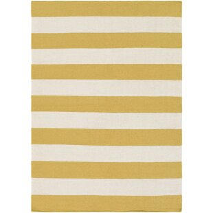 Find the perfect Stonebridge Hand-Woven Wool Pale Orange/White Area Rug ByBreakwater Bay