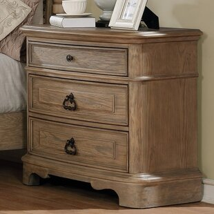 Compare prices Pennington 3 Drawer Nightstand By One Allium Way