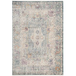 Coulston Teal/Cream Rug by Charlton Home