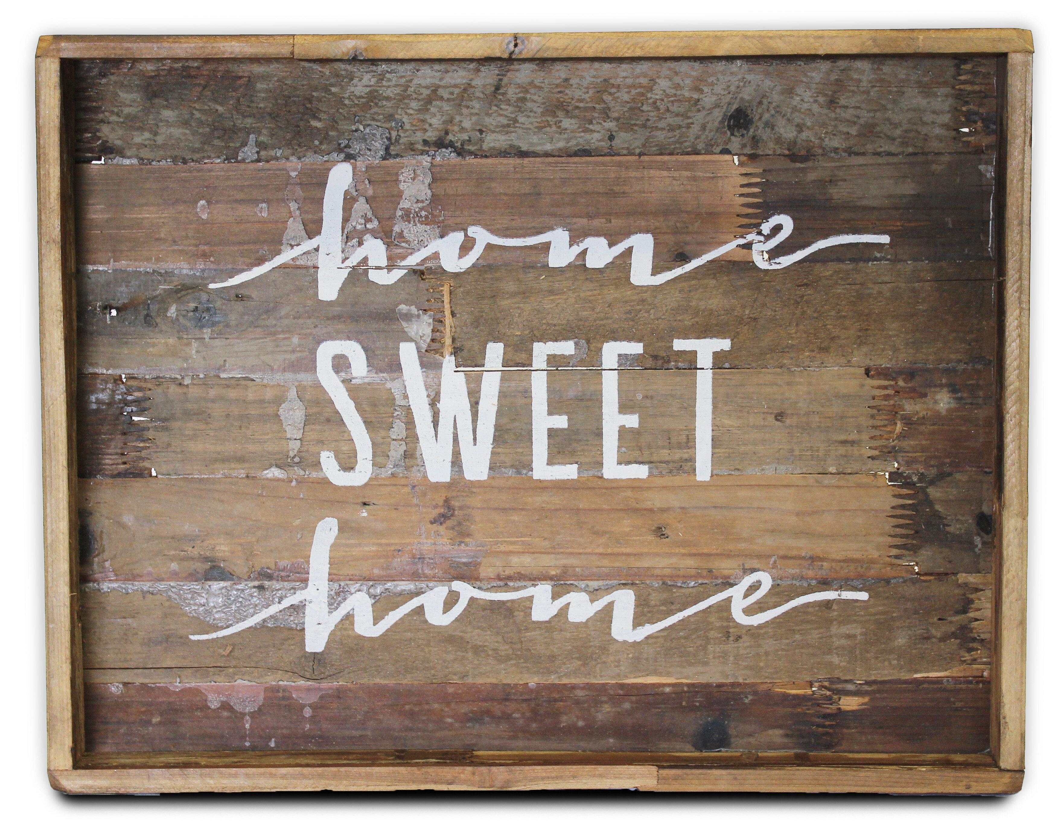 Home Sweet Home Sign Wall Dcor Reviews Joss Main