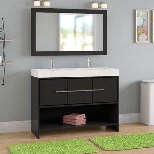 Wade Logan Chauncy 47 Double Bathroom Vanity Set With Mirror