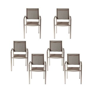 Layton Aluminum Frame Patio Dining Chair (Set of 6)