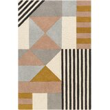 Yountville Geometric Handmade Tufted Wool Cream/Light Gray/Brown Area Rug