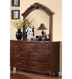 Dunton 7 Drawer Double Dresser with Mirror