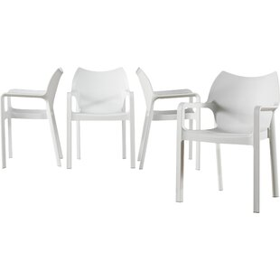 Save  sc 1 st  AllModern & Modern White Outdoor Dining Chairs