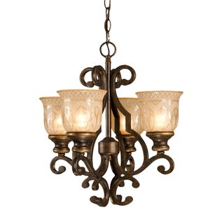 Astoria Grand Tusten 4-Light Shaded Chandelier