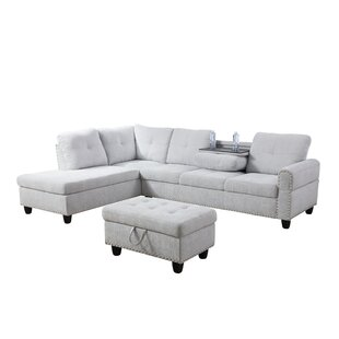 Shop Richland Sectional with Ottoman by Rosdorf Park
