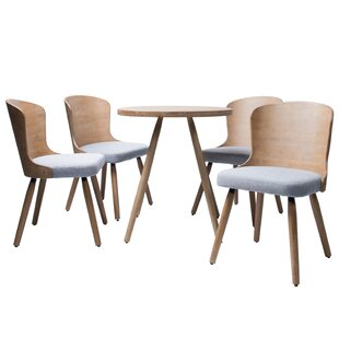 Linde 5 Piece Dining Set Union Rustic