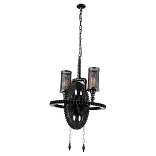 17 Stories Shea 2-Light Shaded Chandelier