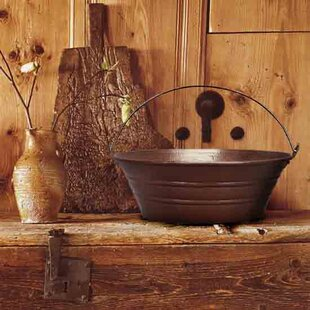 Linkasink Bucket Metal Circular Vessel Bathroom Sink