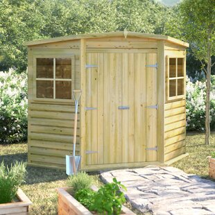 7 Ft. W X 7 Ft. D Shiplap Pent Wooden Shed By Sol 72 Outdoor
