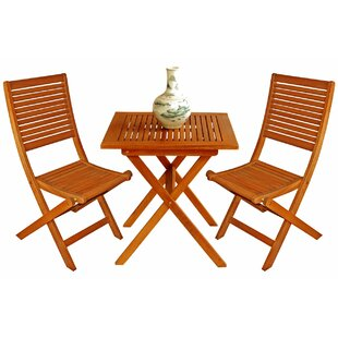 Three Posts Cadsden 3 Piece Bistro Set